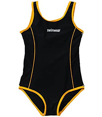 Baby Kids Little Girl One Pieces Swimwear Summer Sleeveless Backless Athletic Sports Swimsuits 4-5 Years