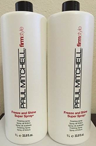 Freeze Super Hold Spray - Paul Mitchell Freeze and Shine Super Spray 33.8 Oz(pack of 2)