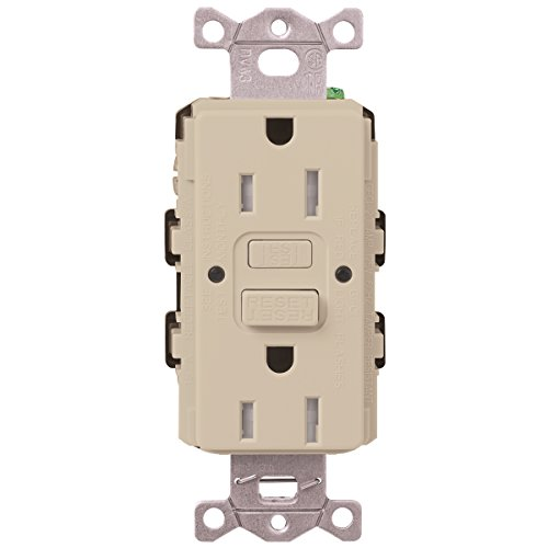 Lutron  SCR-20-GFST-TP  20-Amp  Tamper Resistant Self-Testing Receptacle, Taupe -  Lutron Electronics Company, Inc.