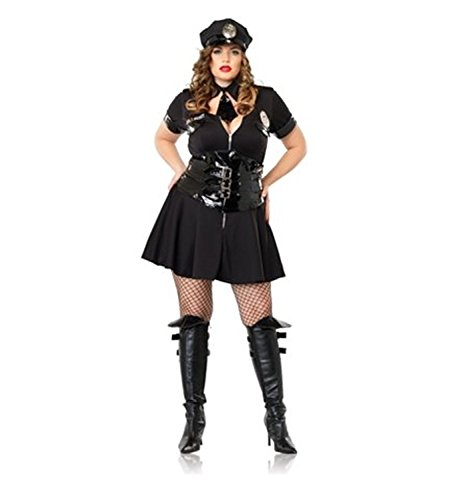 Officer Naughty Costume - Plus Size 1X/2X - Dress Size 16-20 (Convict Lady Plus Size Costume)