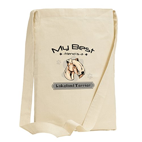 My Best Friend Is Lakeland Terrier Dog Canvas Sling Tote - Florida Shopping Lakeland In