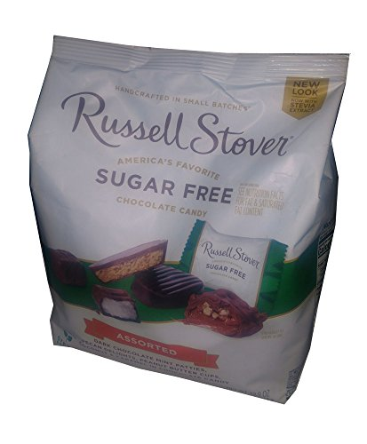 Russel Stover Sugar Free Chocolate Candy Assortment Sampler 19.9 Ounce Bag