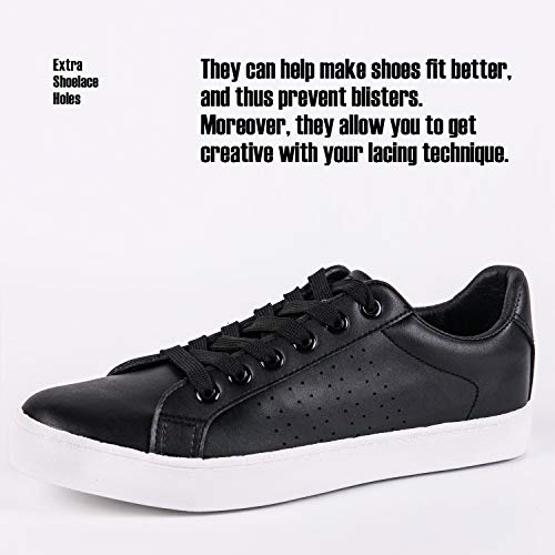 Top de Negro Hotroad Low Moda Zapatillas Unisex de Pu Cuero nx0wfq7pg0