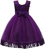 IBTOM CASTLE Big Little Girl Lace Flower Tulle Dresses Wedding Party Short Gown