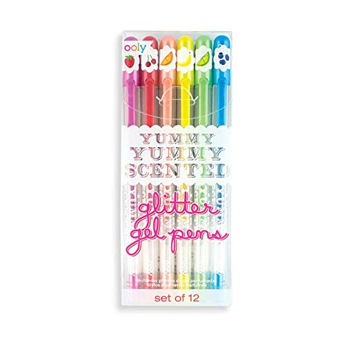 OOLY, Yummy Yummy Scented Glitter Gel Pens 2.0 - Set of 12