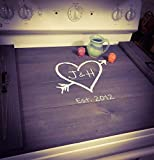 Farmhouse Noodle Board Stove Cover, Oven Cover, Sink Cover, Serving Tray, Farmhouse Decor, Monogram Personalized Kitchen Storage, Asst Colors