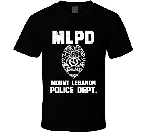 Jokertshirt Mount Lebanon Pennsylvania Police Department Dept Mlpd officer Custom USA City T Shirt XL - City Usa Lebanon