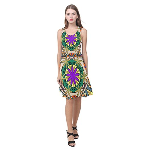 D-histoire Des Femmes De Robe Paisley Floral Mandala Atalanta Casual Robe D'été