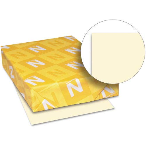 Neenah Paper Exact Index Card Stock 49581, 110 lbs, 8-1/2'' x 11'', Ivory, 250/Pack