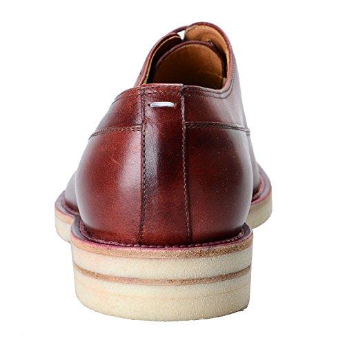 Maison Margiela 22 Hombres Zapatos De Cuero Oxford Rojo Cereza Us 10 It 43