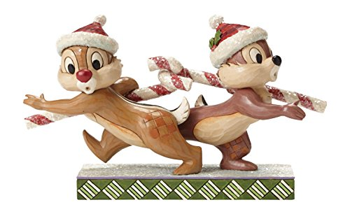 Chip Dale Christmas - Disney Traditions by Jim Shore Chip 'n' Dale Stone Resin Figurine, 4.75""