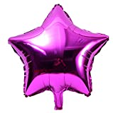 Jeeke 5 Pcs 18 inch Foil Star Balloons Decor for Wedding Party Baby Shower Birthday Decor (Pink, 5 Pcs/Set)