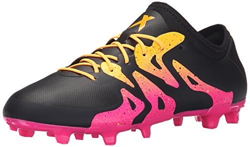 adidas Performance Men's X 15.2 FG/AG Soccer Cleat,Black/Shock Pink/Gold,7 M US - Football Shoes Ag