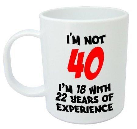 No soy 40 , 40 cumpleaños taza 11oz Regalo: Amazon.es: Hogar