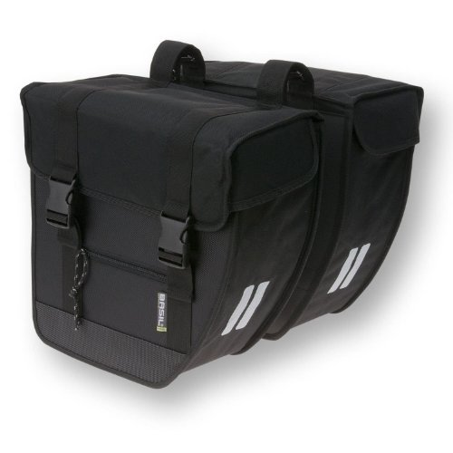 Basil Tour Rear Briefcase Double Pannier Bag Heavy Duty Black 26L by Basil