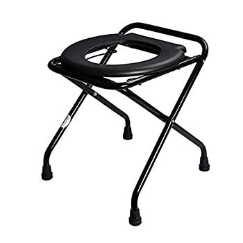 Image of Home and Kitchen XIAOXIAO Portable Toilet Chair, Foldable Camping and Hiking Bedding, Easy to Use and Convenient to Carry