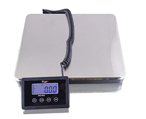 SAGA 360 LB X 0.2 s DIGITAL POSTAL SCALE for SHIPPING WEIGHT POSTAGE W/AC, 160 KG KT360