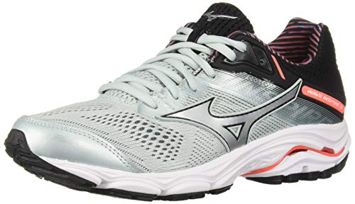 Mizuno Women's Wave Inspire 15 Running Shoe, Sky Gray-Silver, 8.5 W US (Best Mizuno Running Shoes For Flat Feet)