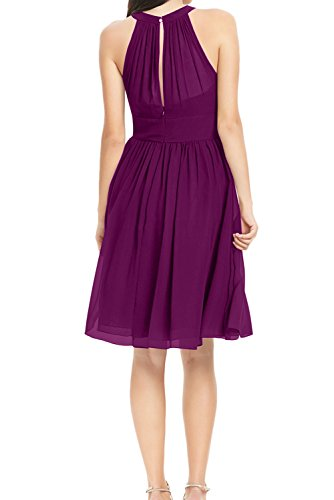Linie Einfach Damen Partykleid halter Festkleid Abendkleid Ballkleid Chiffon A Neck aermellos Royalblau Mini Ivydressing nHtapxqdn