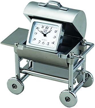 Sanis Enterprises BBQ Clock, 3 by 3-Inch, Silver