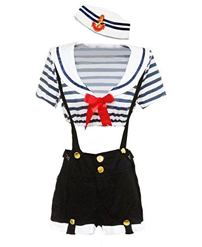 Sailor Doll Costumes - BSLINGERIE® Blue White Navy Sailor Women