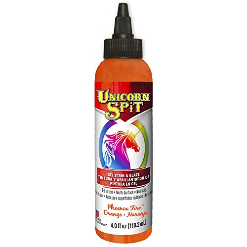 Price comparison product image Unicorn SPiT 5770003 Gel Stain and Glaze,  Phoenix Fire 4.0 FL OZ Bottle,  Orange