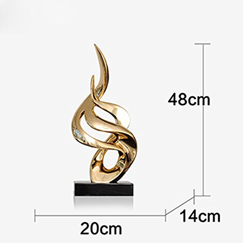 Sungl Ornament Live-brand Hars Kunst Bureau Modern Onderhoudend Decor Sculptuur Salontafel Kantoor Aan Huis, Goud