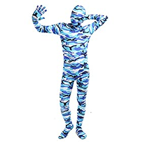 - 41sVIhQNRbL - ACE SHOCK Zentai Costume Bodysuit Camouflage, Adult Lycra Spandex Cosplay Full Body Suits