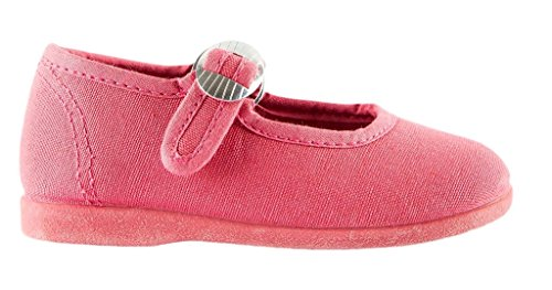 Namoo Kids Canvas Mary Jane, Cotton and Rubber Sole, Baby/Toddler/Kid Shoe (Strawberry) by Namoo