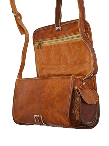 { Shreenath Enterprises }, Borsa tote donna Marrone vintage