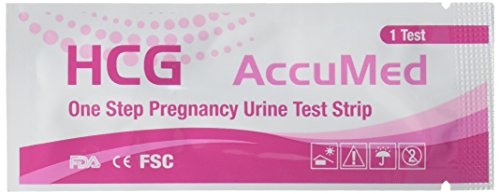 AccuMed 25-Count Pregnancy  Test Strips, Clear and Accurate