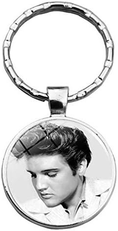 arret Middleton Elvis Presley Vintage Bild Bild Anhänger Schlüsselanhänger Schlüsselanhänger - Xswx1636-1