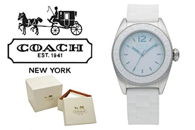 Coach Andee Boyfriend White Rubber Strap Watch 14501375