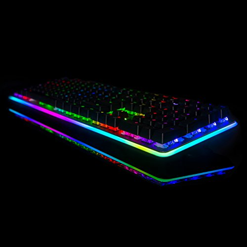 Rosewill Mechanical Gaming Keyboard, RGB LED Glow Backlit Computer Mechanical Switch Keyboard for PC, Laptop, Mac, Software Customizable - Professional Gaming Blue Mechanical Switch للبيع