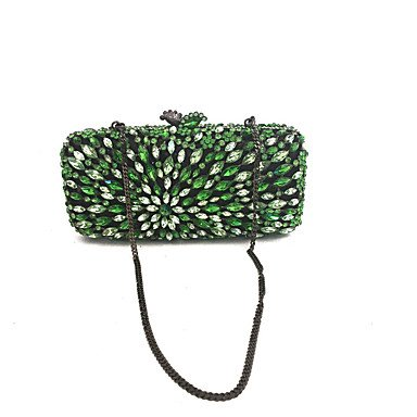 SUNNY KEY-Clutches@Abendtasche PU Metall Ohne Reißverschluss Grün