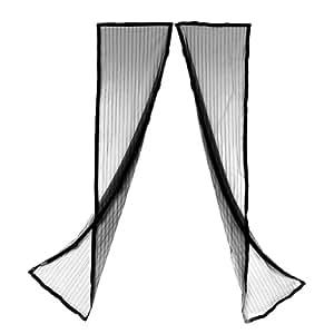 Fly Out magnético Fly mosquitera puerta pantalla de malla cortina (blanco) Compatible con puertas de hasta 90x 210cm