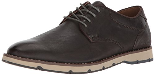 Hush Puppies Men's Titan Oxford, Dark Grey Leather, 10.5 M ()