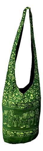 Bag Sling Indonesia Hippie Boho Crossbody Elephant Green rIqIvAZwx5