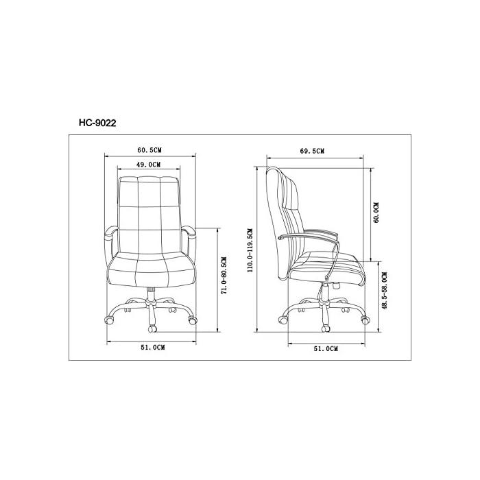 41sVJYCZ CL Silla de oficina de diseño clásico con respaldo y asiento acolchados para una mayor comodidadd Incluye reposabrazos acolchado para una mayor comodidadd. Tapizado en piel sintética, fácil de limpiar Soporte regulable con cinco ruedas resistentes que se desplazan fácilmente en cualquier dirección y en cualquier tipo de superficie. Fabricado en metal para asegurar la estabilidad de la silla
