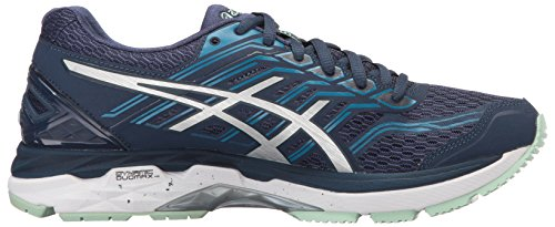 Asics Women's Gt-2000 5 Running Shoe, Pink Glow/White/Dark Purple, 10 B US Insignia Blue/Silver/Glacier Sea
