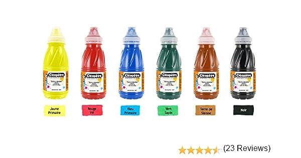 Cleopatre - EAD250x6A - Pack de 6 frascos de tinta de dibujo, 250 ml, colores primarios: Amazon.es: Oficina y papelería