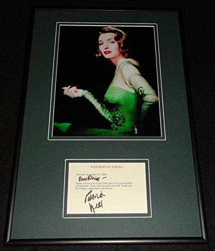 Patricia Neal Signed Framed Note & Photo Display The Day The Earth Stood Still C
