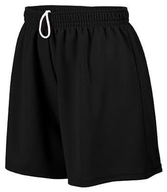 Augusta Sportswear Ladies Wicking Mesh Short, Black, XX-Large