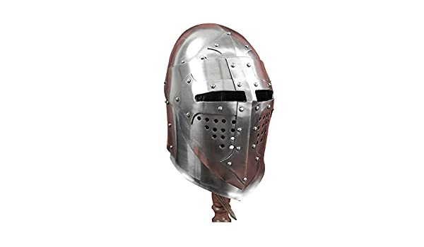 Amazon.com: Lord Of Battles Early 14th Century Great Bascinet - 14 Gauge: Sports & Outdoors