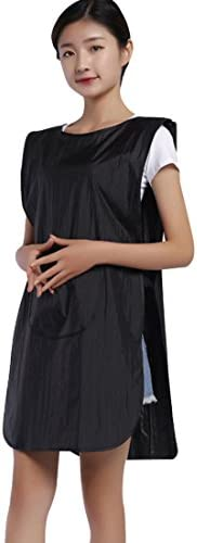 Surrui Salon Apron Hair Stylist Smocks Vest with Pockets Barber Workwear Hairdresser Cape Sleeveless Aprons