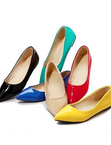 zapatos y Beige 4in carrera casual de talones red amarillo 3 mujer plano azul talón bombas rojo verde oficina Creepers PDX de negro 3 vestido 3in v45gw