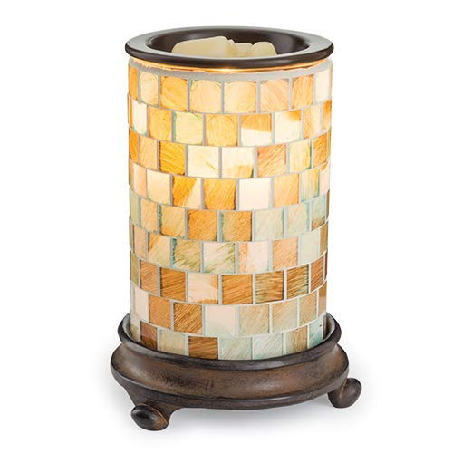 CANDLE WARMERS ETC. Illumination Fragrance Warmer- Light-Up Warmer for Warming Scented Candle Wax Melts and Tarts or Essential Oils to Freshen Room, Sea Glass