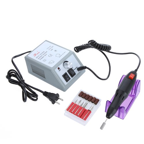 Docooler 16000-18500RPM Electric Nail Drill Set Kit Manicure Pedicure Acrylics Gel Polish Fast Machine 110V US Plug