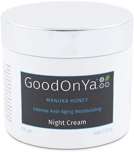 Night Cream with Manuka Honey, Aloe Vera and Cocoa Butter - Anti Aging and Skin Lightening Cream - Organic and Natural Anti Wrinkle, Deeply Hydrating, Pore Minimizer, Moisturizer for Face (4 oz)
