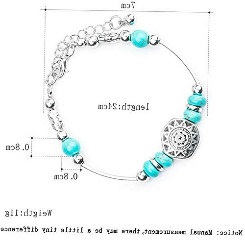 Monowi Wholesale Fashion Women Turquoise Cuff Charm Bangle Bracelet Earrings Jewelry | Model ERRNGS - 18435 |